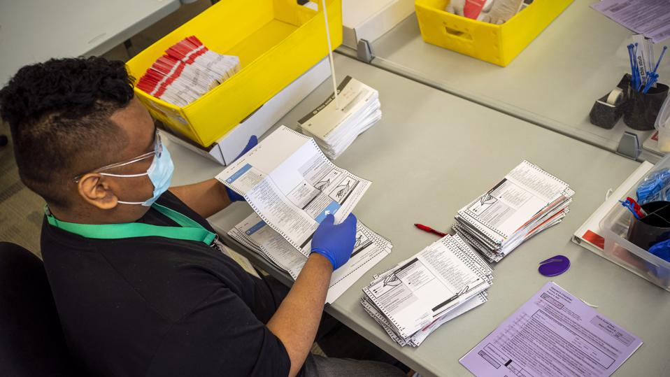 Mail-In Ballots Are Processed For Washington's Primary Election