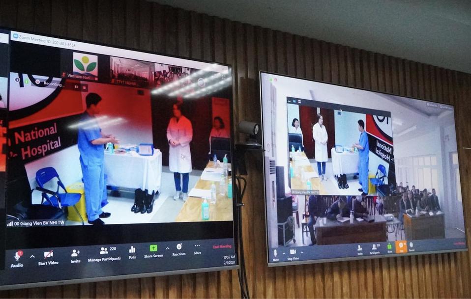 doctors learning via Zoom
