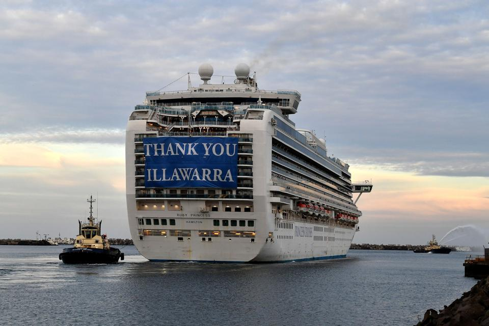 Ruby Princess cruise ship with Covid infected passengers and crews in Sydney Australia