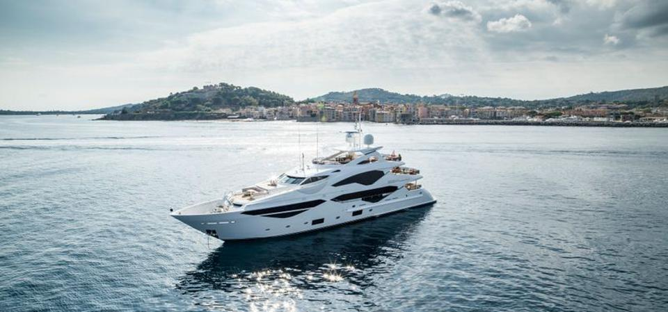 Sunseeker 131 at the Cannes Yachting Festival