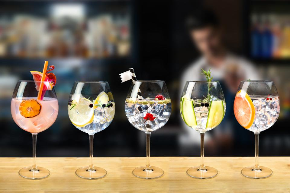 gin and tonic selection