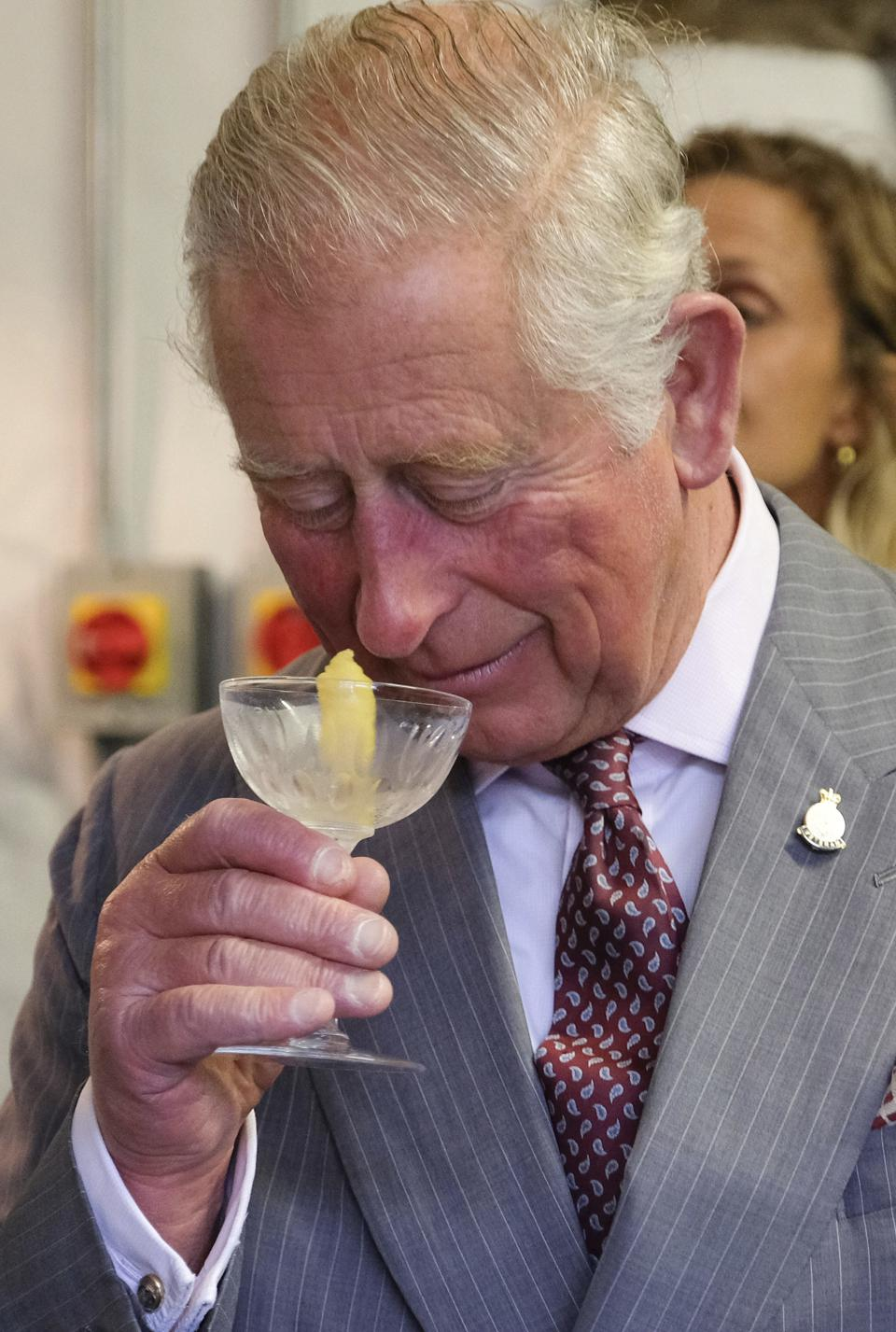 Prince Charles visits the Hepple Gin Distillery