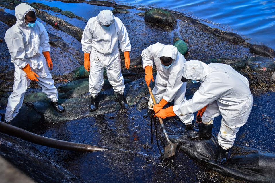 13 Aug 2020: thousands of volunteers cleaning up the oil spill along Mauritius' once pristine coastline