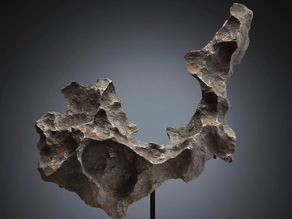Gibeon extraterrestrial tabletop sculpture, a meteorite found in Great Nama Land in Namibia, could fetch $50,000-80,000.