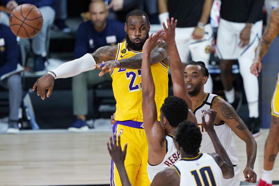 Denver Nuggets v Los Angeles Lakers SalivaDirect test Covid-19 coronavirus