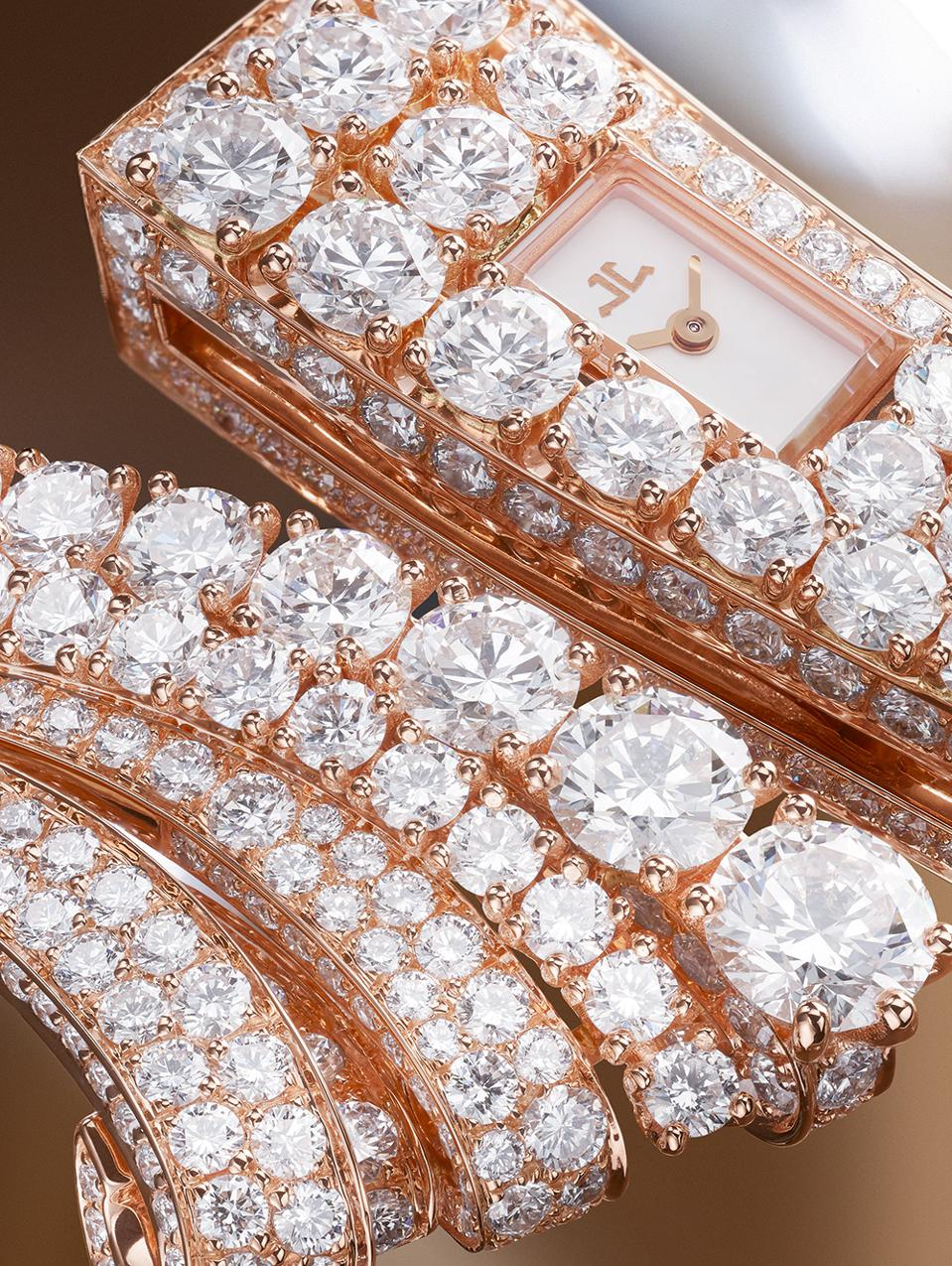The Jaeger-LeCoultre Bangle watch, with 19.7 carats of diamonds.