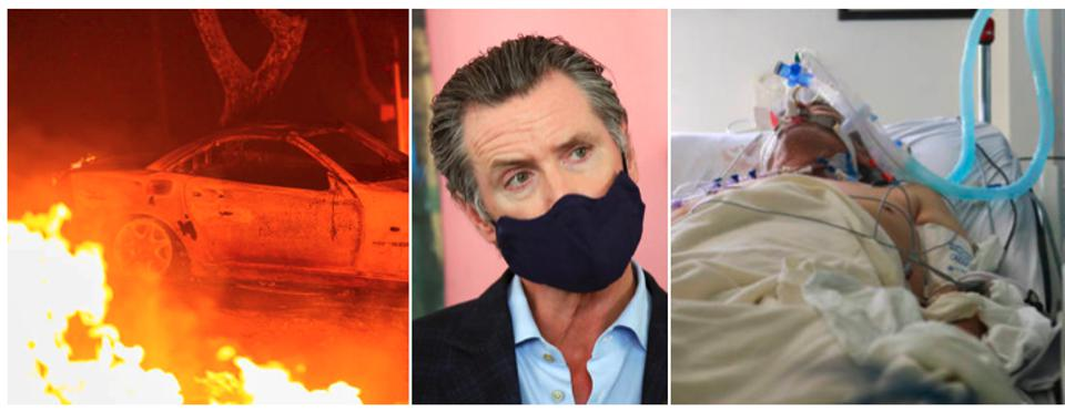 Fires, Gov. Newsom, and Covid patient