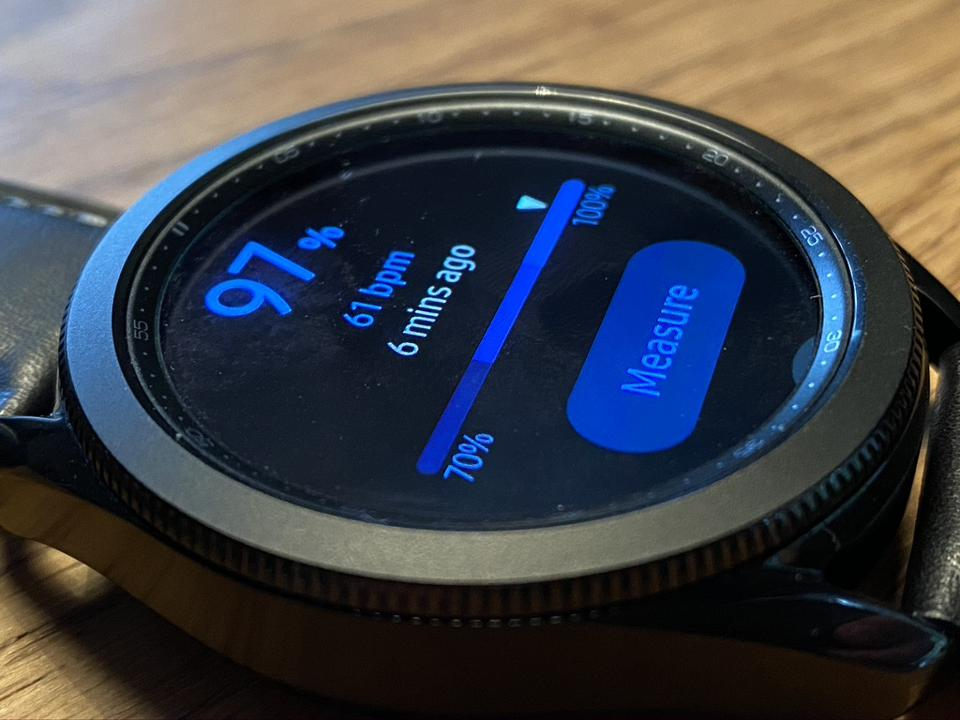 The Samsung Galaxy Watch3 offers blood oxygen level measurements.