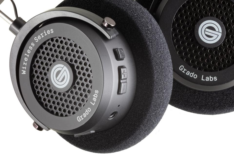 Close up of Grado GW100 wireless headphones