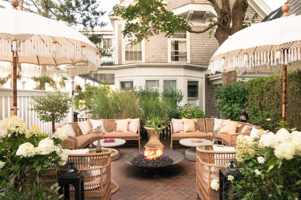 NANTUCKET, MA - The private garden at Life House Nantucket