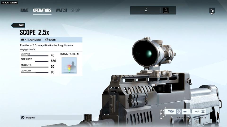 The Scope 2.5x in Rainbow Six Siege.