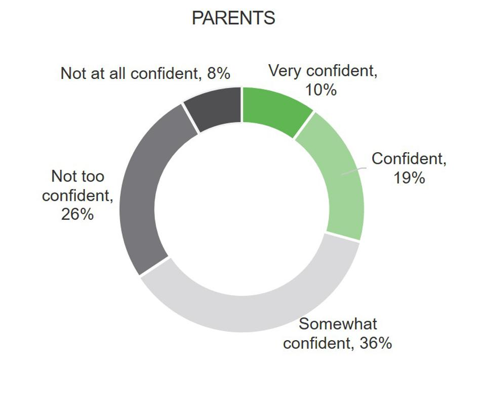 Circle chart of parent confidence responses.