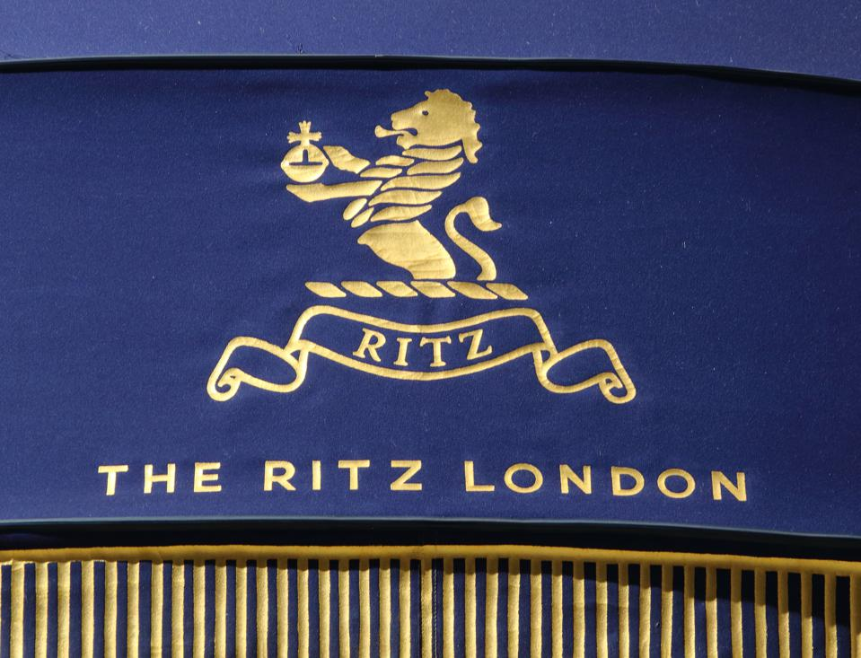 Logo of The Ritz, an iconic London hotel on Piccadilly.