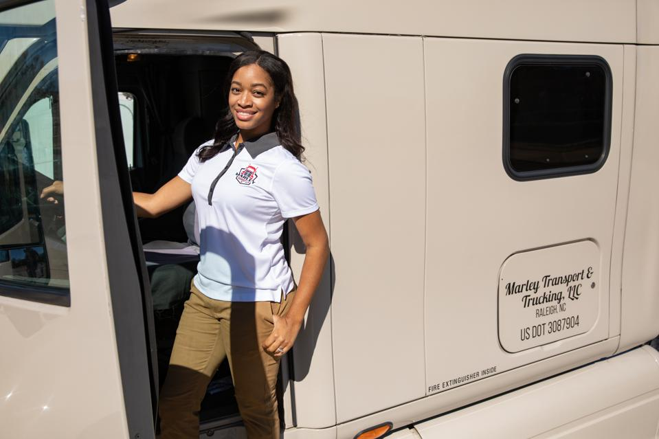 Black women entrepreneur, black owned, Shavon Marley, Marley Trucking, Carolina Small Business Development Fund
