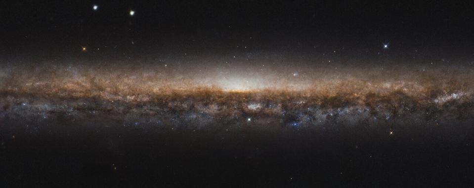 The Knife Edge Galaxy, NGC 5907, is about 50 million light-years from Earth, lying in the northern constellation of Draco.