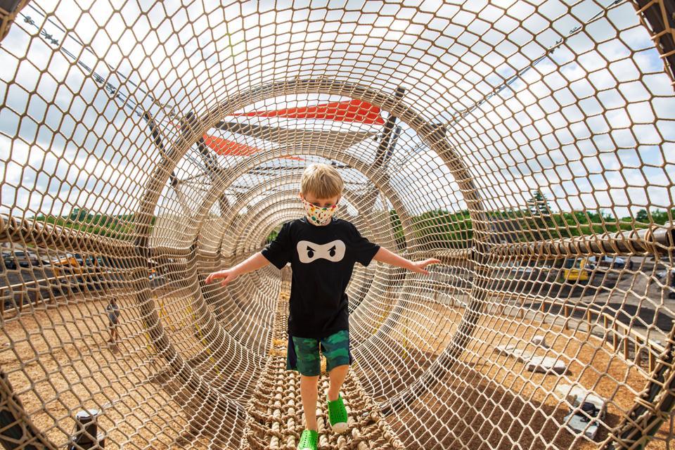 Kids climb-on adventure park, Chicago suburbs