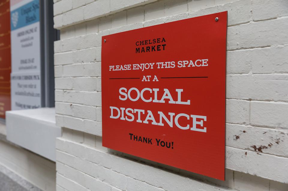 Social distancing measures will be in place at Chelsea Market's Outdoor Dining Experience.