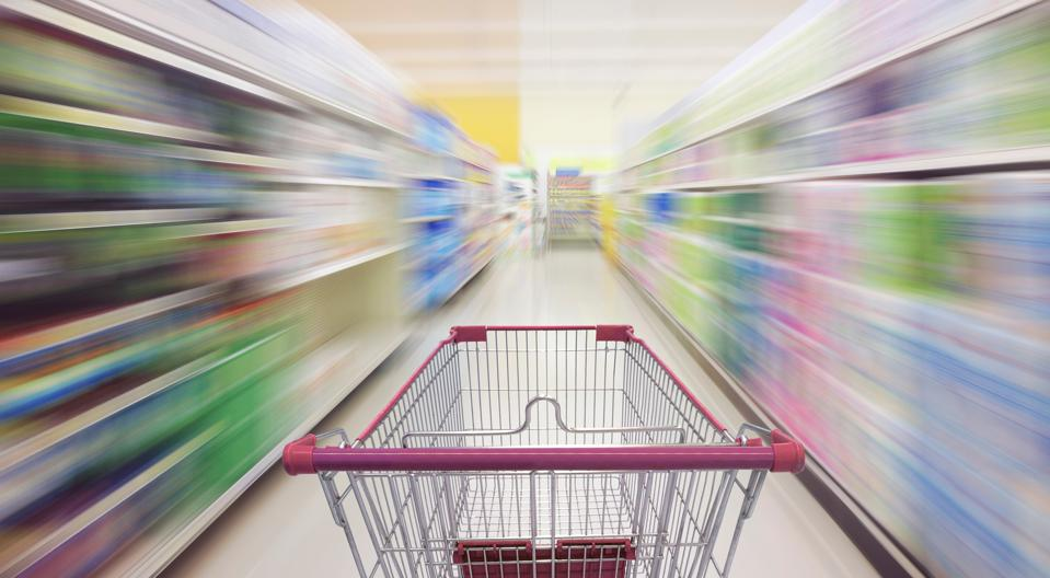 Supermarket trolley zooms into the future