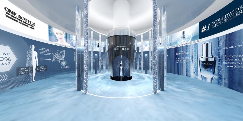 The immersive 3D experience emphasizes on its exploratory features to educate consumers about the microbiome science behind their signature Advanced Genifique serum.