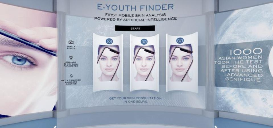 Consumers can interact with Lancôme's beauty experts by uploading selfies for a virtual consultation