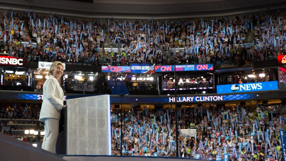Clinton Accepts DNC Nomination