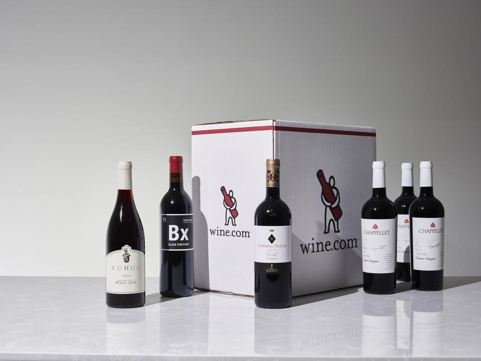 A case of wine ready to ship.