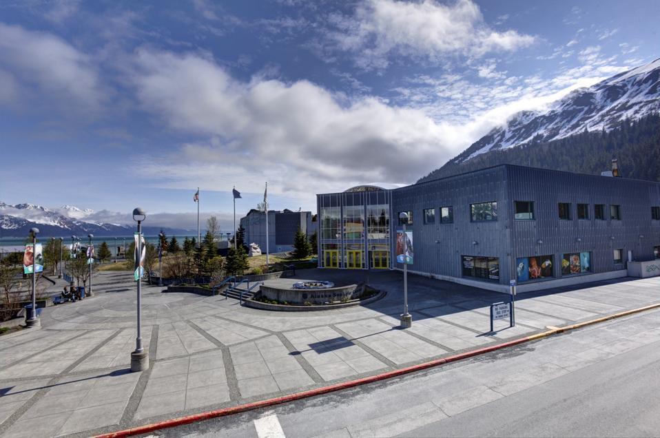 El exterior del Alaska SeaLife Center en Seward, Alaska.