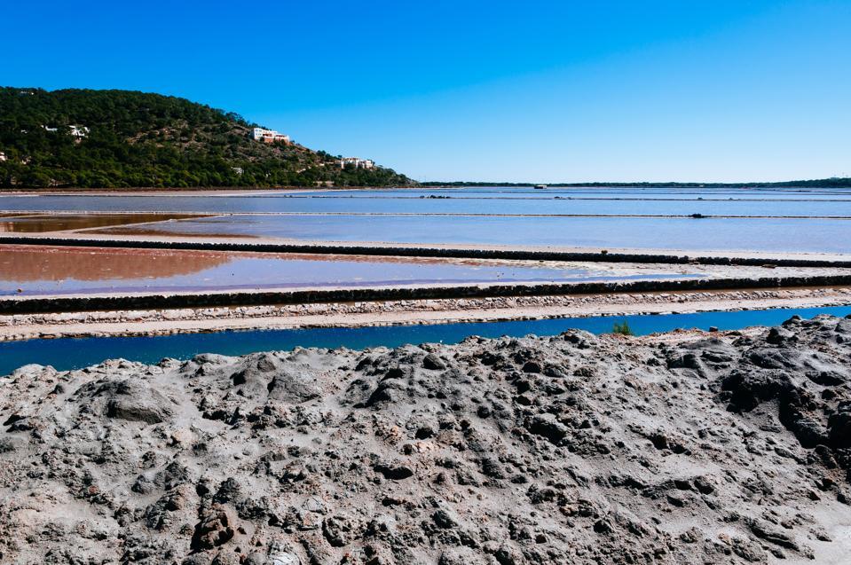 Salt mines in Las Salinas Natural Park...