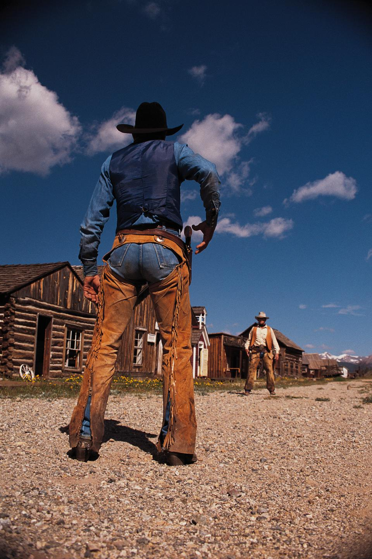 Two gunslingers.