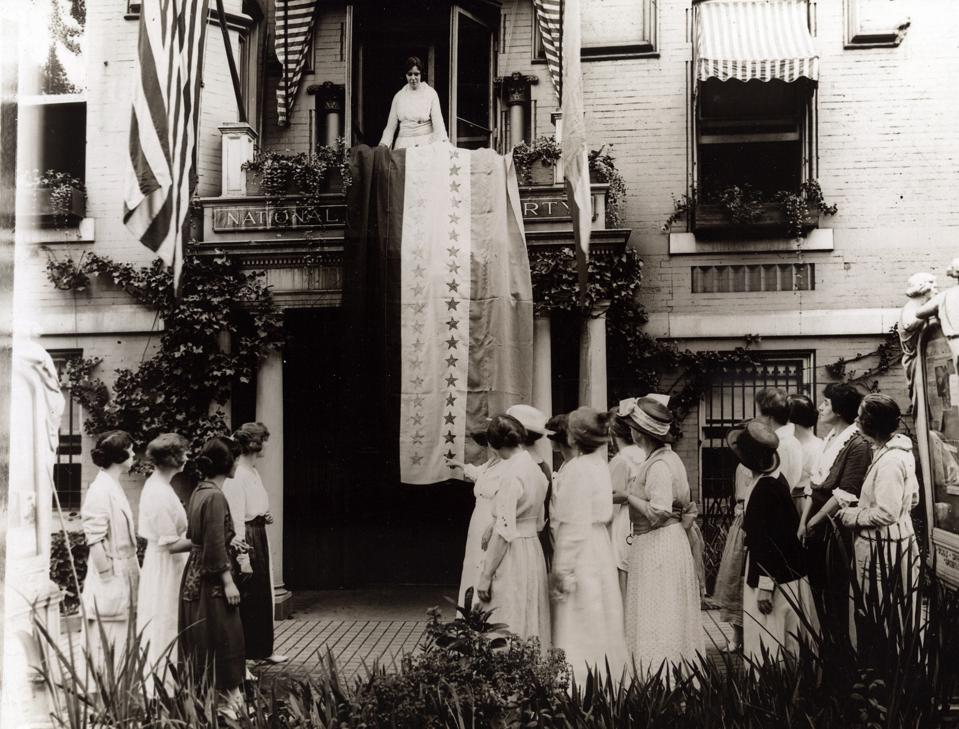 Alice Paul and other suffragists in 1920