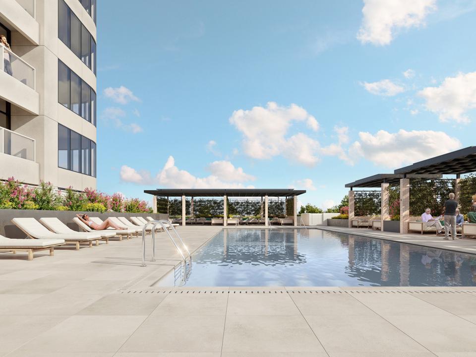 pool at the Parklane, Houston