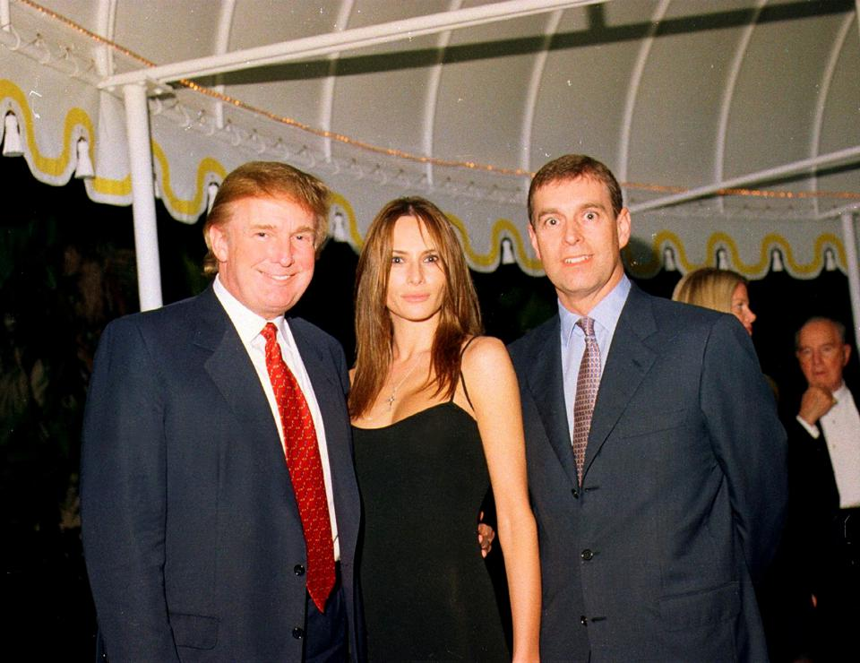 Trump, Knauss, & Prince Andrew At Mar-A-Lago