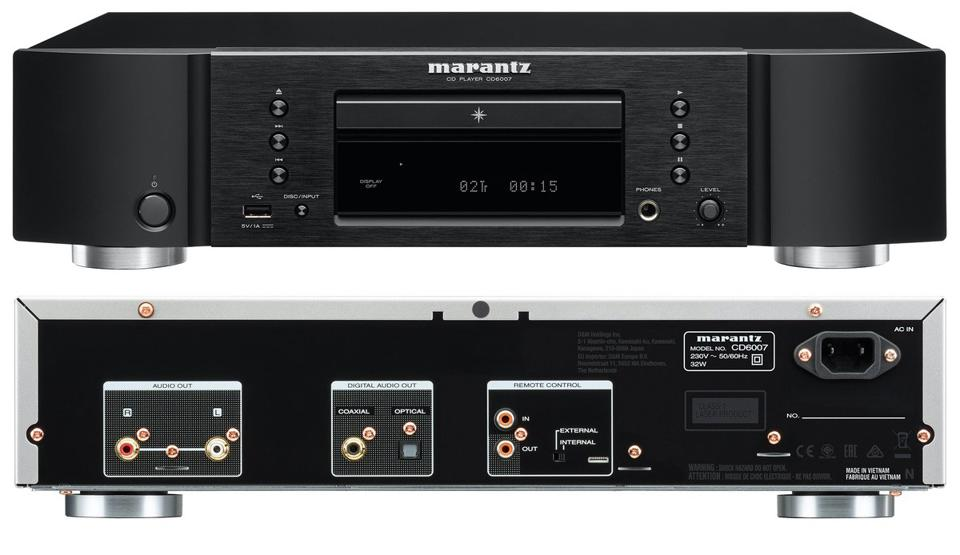 Front and back view Marantz CD6007 CD player