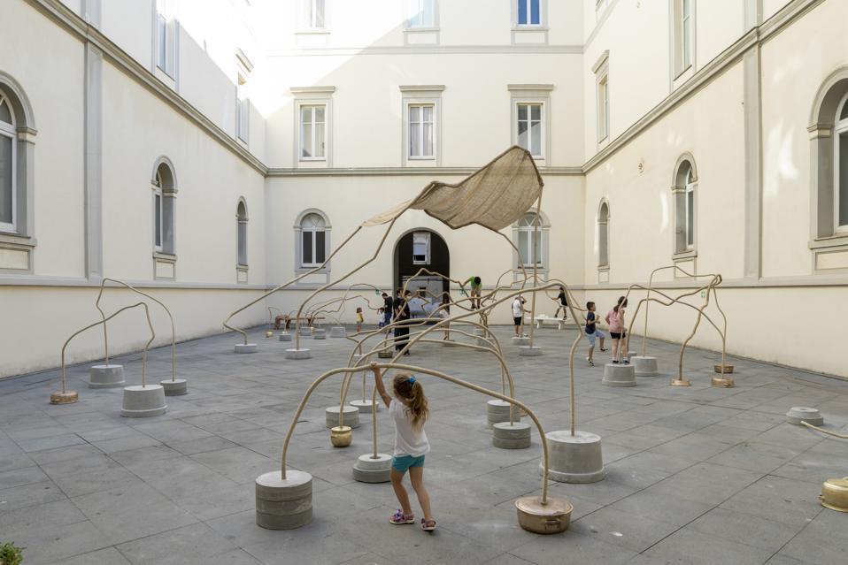 A view of Temitayo Ogunbiyi's installation