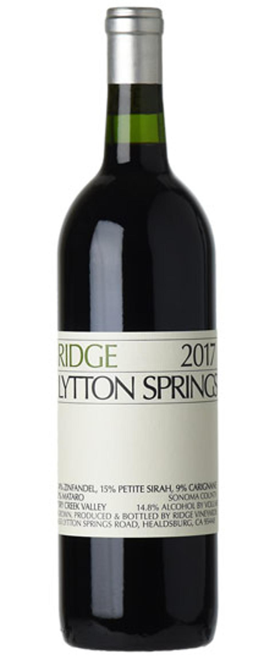 Zinfandel, Ridge Vineyards, Lytton Springs, Dry Creek Valley