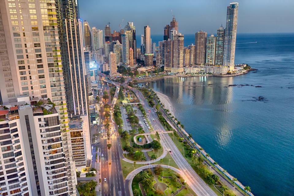 The Panama City skyline.