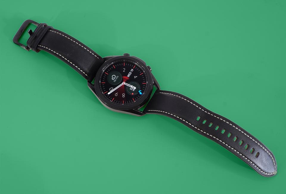 The Samsung Galaxy Watch 3 smartwatch.