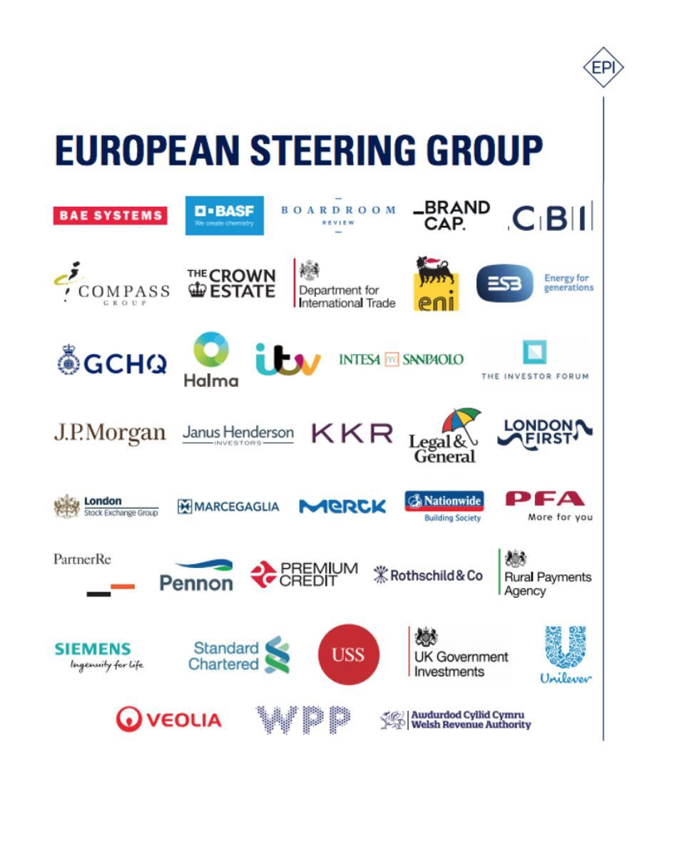 Members of the European  Steering Group of the Enacting Purpose Initiative
