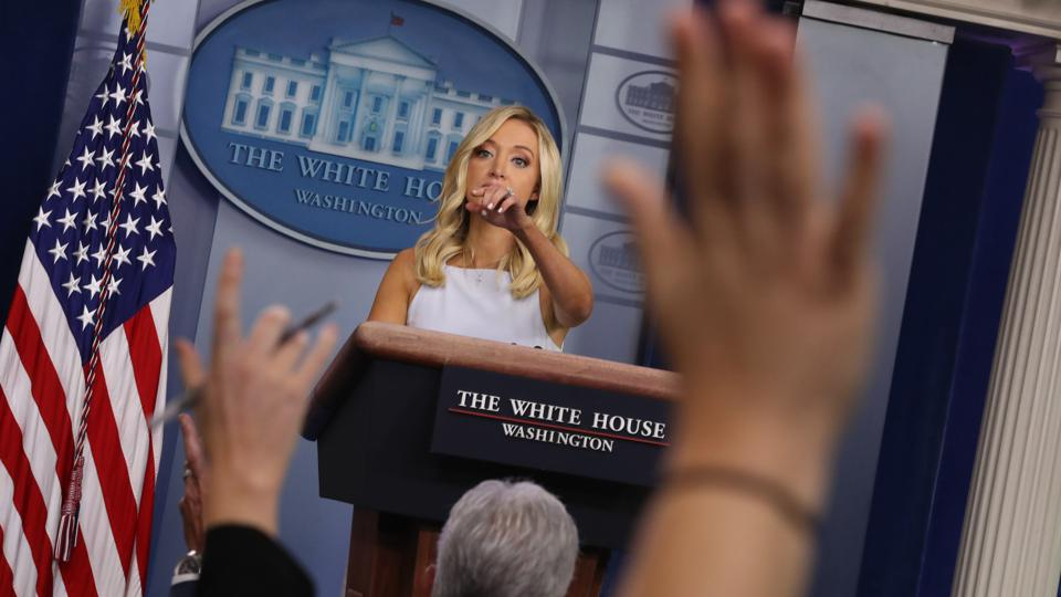 White House Press Secretary Kayleigh McEnany Holds Briefing At White House