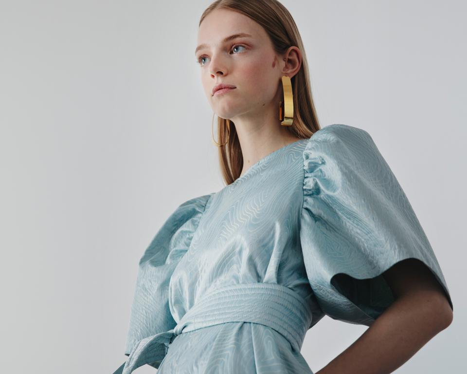 Nynne SS21 dress with Tinkerbell sleeves.