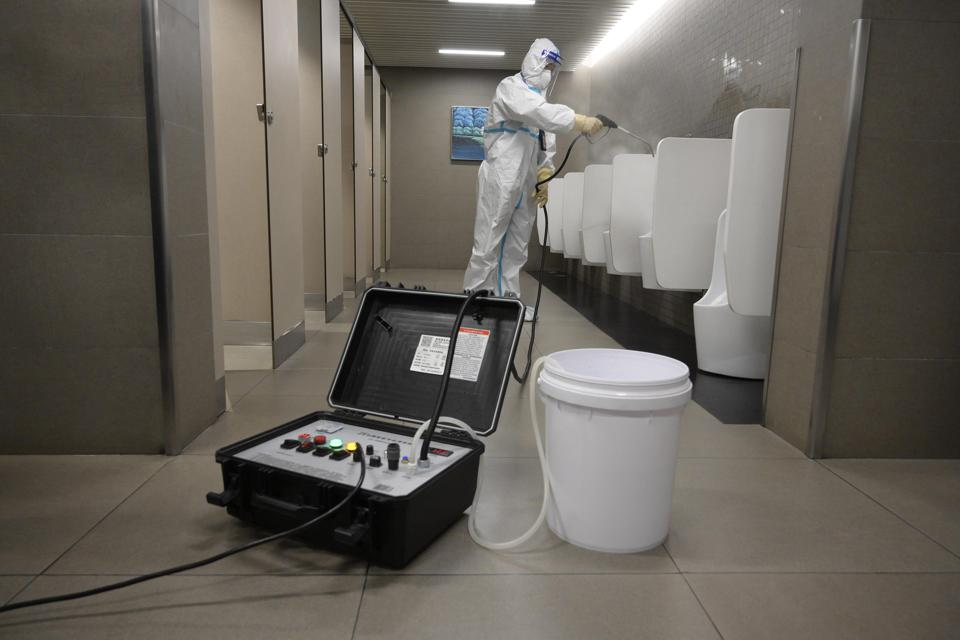 Disinfection Work At Guangzhou Airport