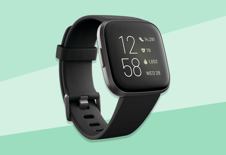A promo image of the Fitbit Versa 2.