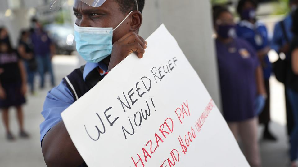 Unemployed Airport Workers Call On Delta To Rehire After Airline Received Bailout