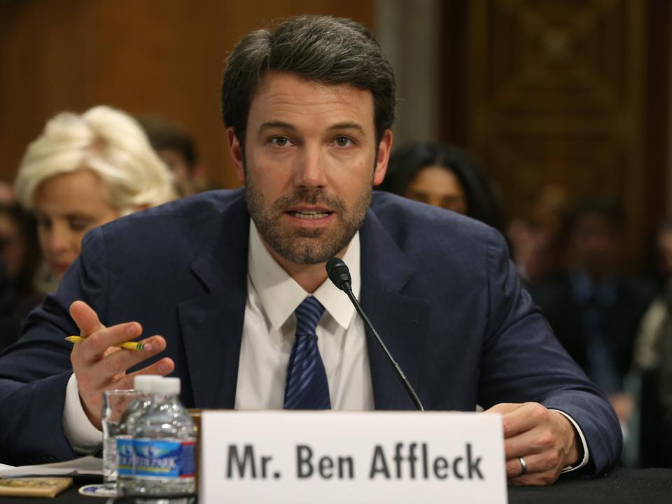 Ben Affleck Founder Of The Eastern Congo Initiative Attends US Senate Hearing