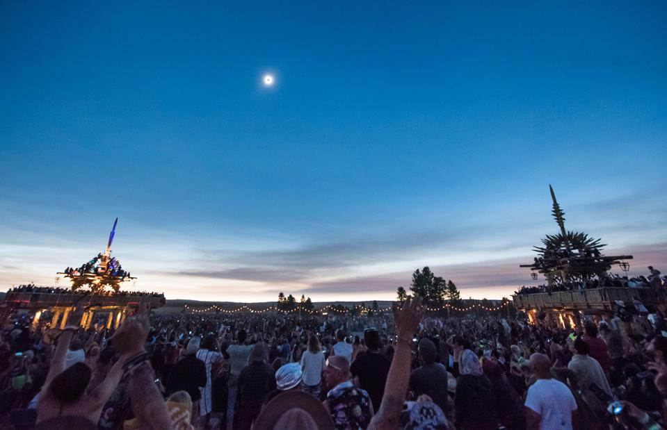 The ″Great American Eclipse″ from Oregon's Ochoco National Forest near the city of Mitchell on August 21, 2017. (ROBYN BECK/AFP via Getty Images)