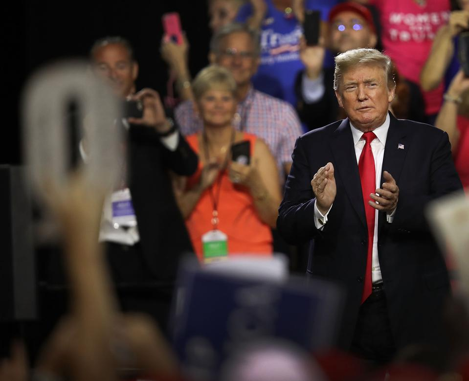 Donald Trump Holds ″Make America Great Again″ Rally In Tampa