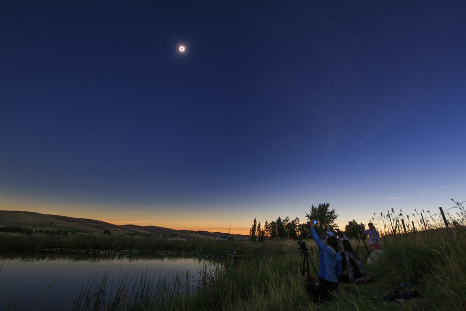 Wide angle view of the August 21, 2017 total solar eclipse.