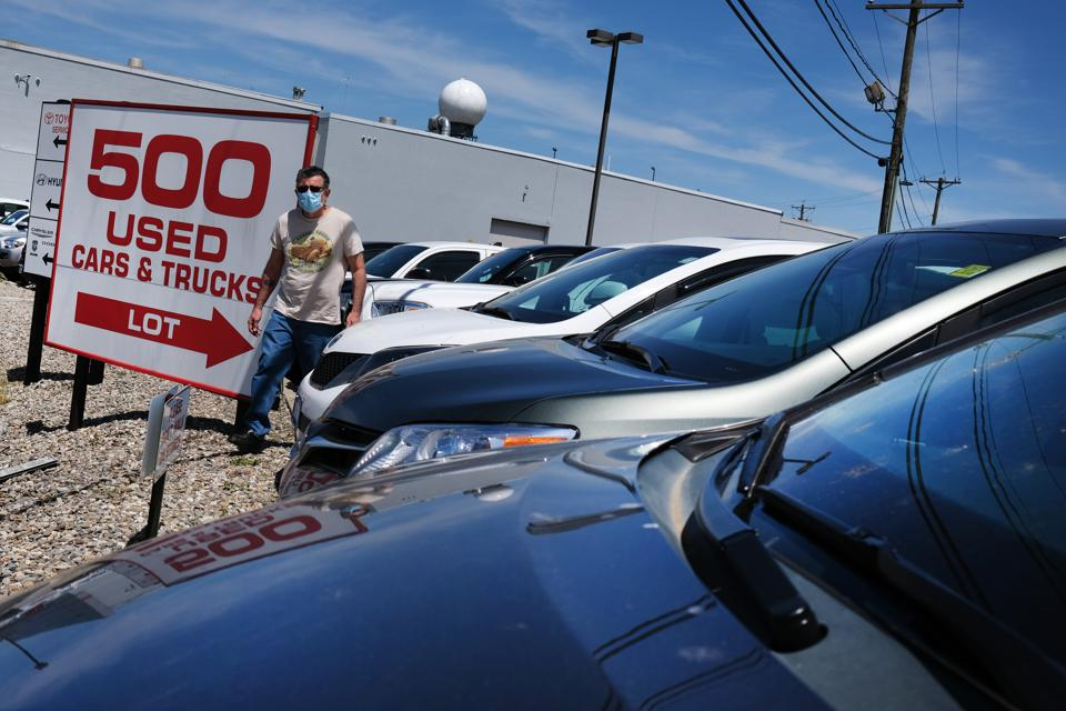 A used-car lot in Linden, N.J.