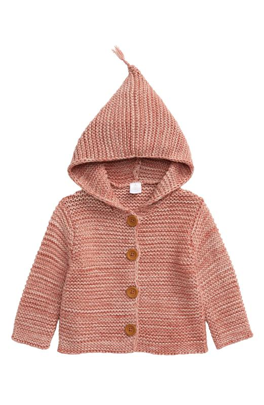 Baby Organic Cotton Hooded CardiganBaby Organic Cotton Hooded Cardigan