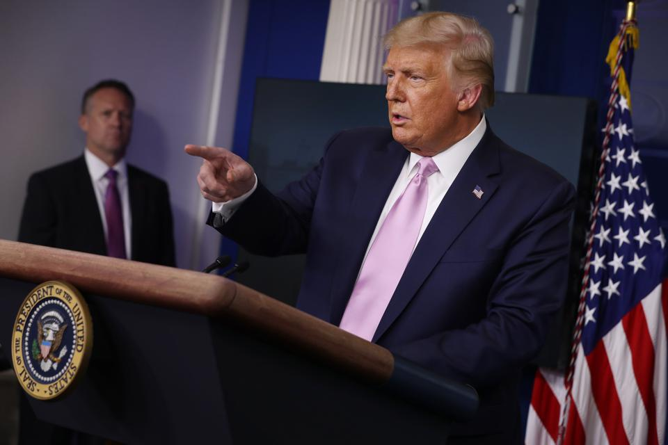 President Trump Holds Briefing At The White House
